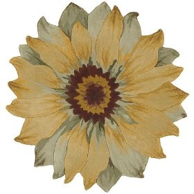Flower Shaped Rug For Area Rugs